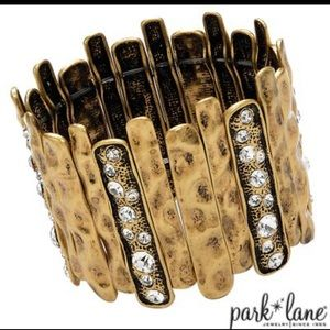 Park Lane Hammered Metal Stretch Bracelet
